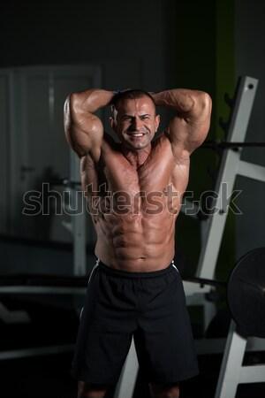 Muscular musculação corpo homem retrato Foto stock © Jasminko