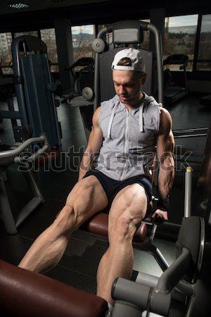 Gezonde man oefening Maakt een reservekopie mannelijke sport Stockfoto © Jasminko
