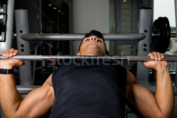 Pesi sport corpo uomini esercizio Foto d'archivio © Jasminko