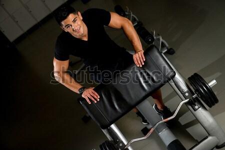 Bicepsz edzés sport test fitnessz szépség Stock fotó © Jasminko