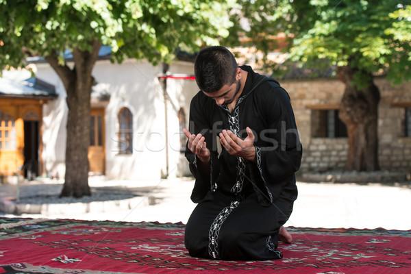 ムスリム 男 祈っ モスク 小さな ストックフォト © Jasminko