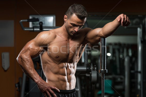 Young Muscular Men Resting After Exercises Stock photo © Jasminko