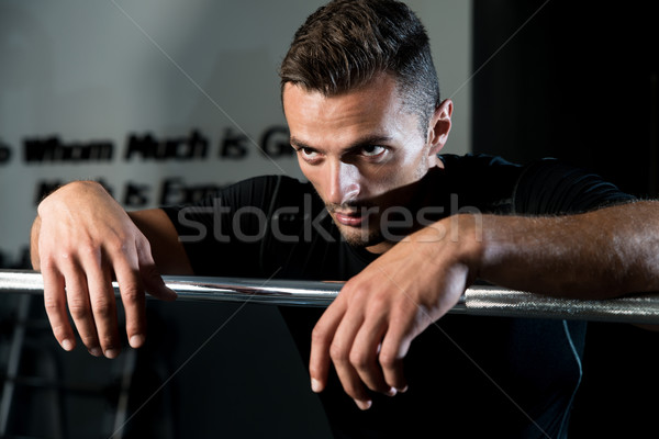 Young Muscular Caucasian Man Resting At The Gym Stock photo © Jasminko