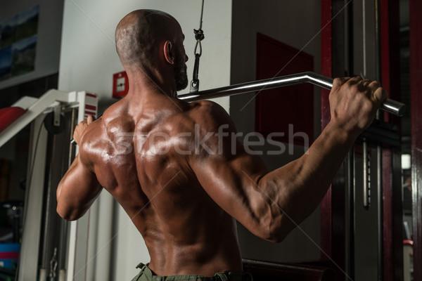 назад осуществлять зрелый человек человека спортзал темно Сток-фото © Jasminko
