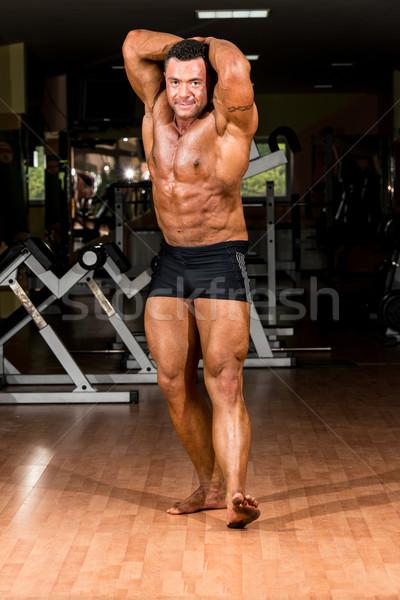 Corpo muscoloso builder fronte addominale uomo Foto d'archivio © Jasminko
