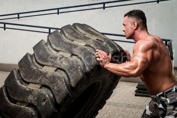 Crossfit formation hommes Homme poids mode de vie Photo stock © Jasminko