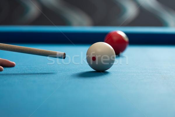 Spielen Billard Sport Spaß Erfolg Veröffentlichung Stock foto © Jasminko