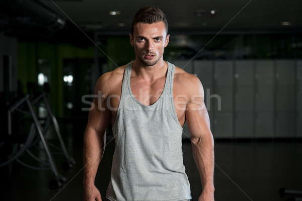 Portrait Of A Young Muscular Sporty Fit Caucasian Man Stock photo © Jasminko
