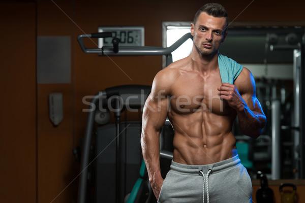 Voorbereiding morgen prestatie portret geschikt jonge man Stockfoto © Jasminko