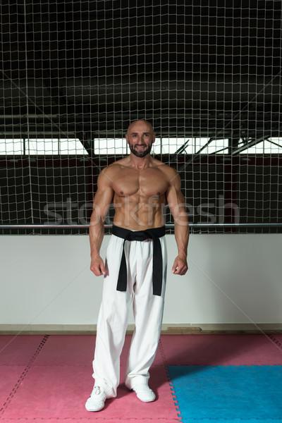 Olgun adam yukarı erkek dövüş sanatları eğitmen Stok fotoğraf © Jasminko