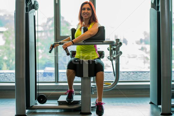 Frauen Schönheit Fitnessstudio Ausübung Lifestyle Stock foto © Jasminko