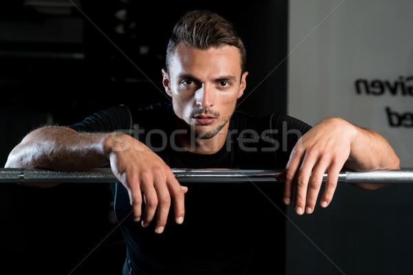 Elvesz törik edz férfi test portré Stock fotó © Jasminko