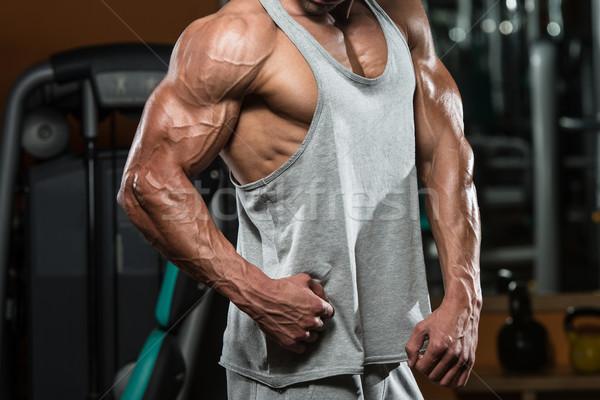 Bodybuilding pas course marathon portrait s'adapter Photo stock © Jasminko