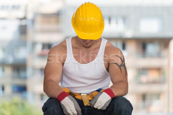 ленивый человека строительство расслабляющая чистый воздух Сток-фото © Jasminko