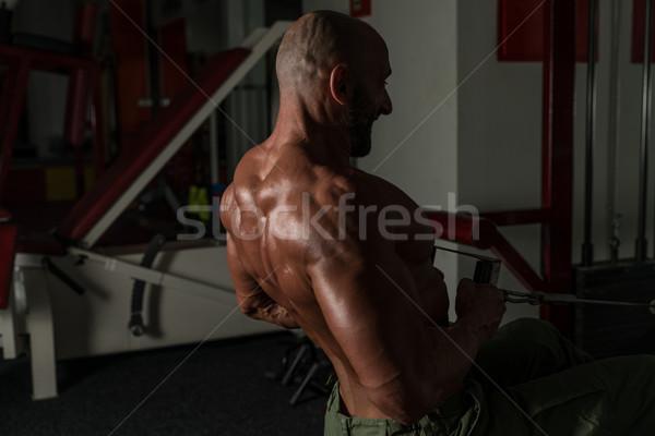健康 成熟した男 行使 戻る 成熟した 男性 ストックフォト © Jasminko