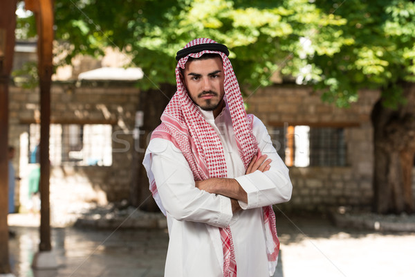 Stock fotó: Modern · arab · üzletember · fiatal · visel · hagyományos
