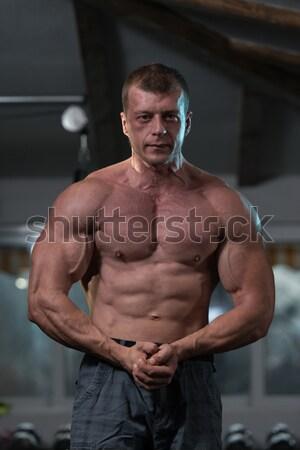мышечный Культурист сторона трицепс человека Сток-фото © Jasminko