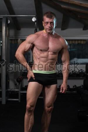 ストックフォト: ボディービルダー · 上腕二頭筋 · 健康 · 男 · 健康