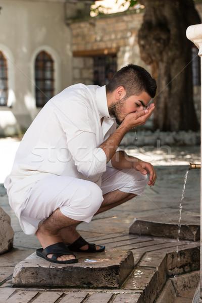Religieux cérémonie bouche lavage musulmans Photo stock © Jasminko