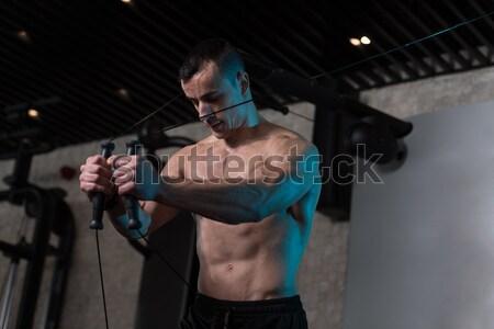 человека спортзал трицепс молодые Сток-фото © Jasminko