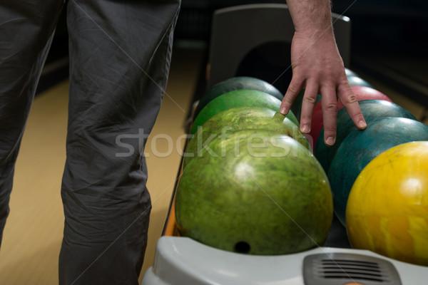 Bola boliche homens boliche jogar Foto stock © Jasminko