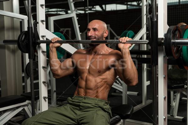 ボディービルダー 重量 行使 肩 成熟した男 ストックフォト © Jasminko