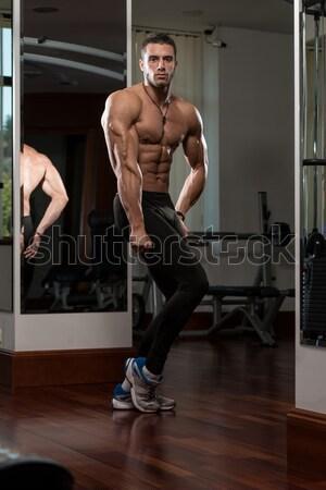 Flexible hombre formación masculina artes marciales Foto stock © Jasminko