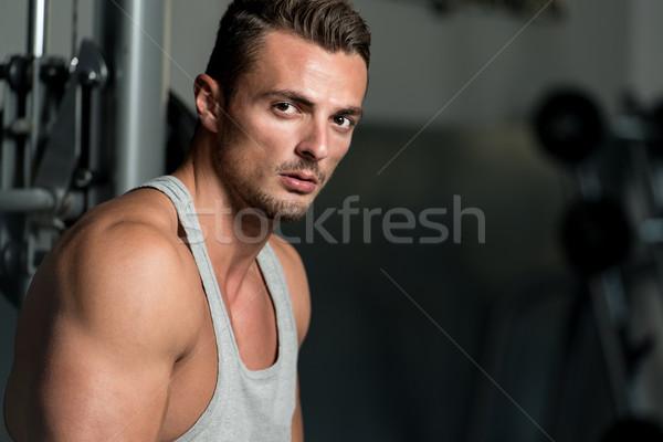 Esforço moda retrato masculino torso atleta Foto stock © Jasminko
