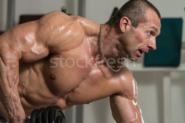 Geri sağlıklı adam spor salonu spor Stok fotoğraf © Jasminko