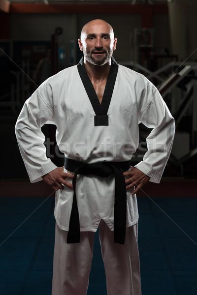 成熟した男 伝統的な 着物 肖像 フィット 黒 ストックフォト © Jasminko