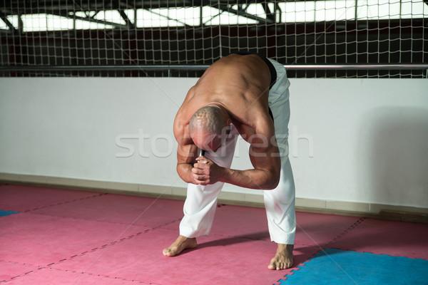 Vechtsporten man kimono karate mannelijke Stockfoto © Jasminko