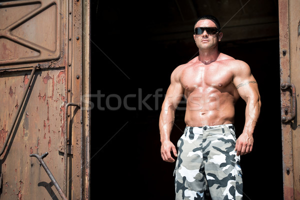 человека старые поезд металл мужчин власти Сток-фото © Jasminko