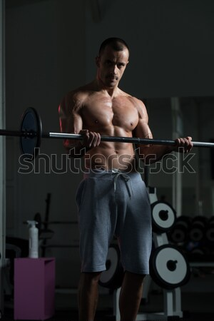 Homem maduro exercer bíceps saúde clube Foto stock © Jasminko