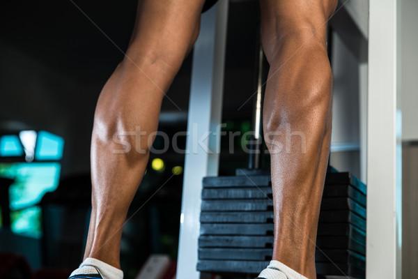 Verbazingwekkend benen oefening huid atleet Stockfoto © Jasminko