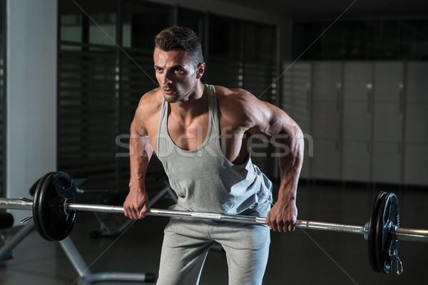 Barbell esportes ginásio homens retrato Foto stock © Jasminko