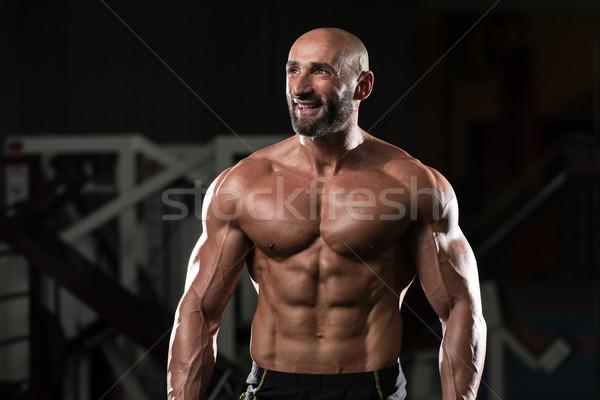 érett izmos férfi izmok portré fitt Stock fotó © Jasminko