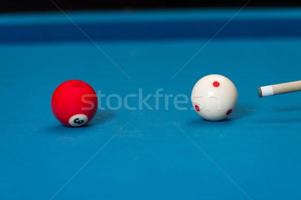 Mann spielen Pool Ball Sport Spaß Stock foto © Jasminko