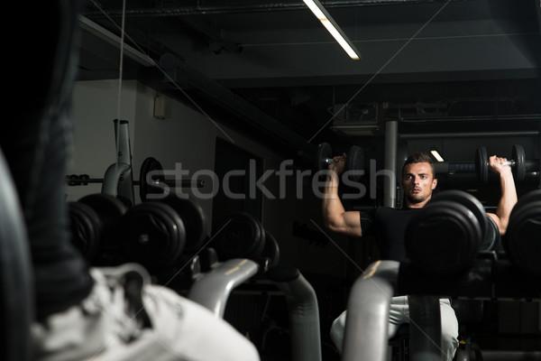Schouder druk lichaam portret spier Stockfoto © Jasminko