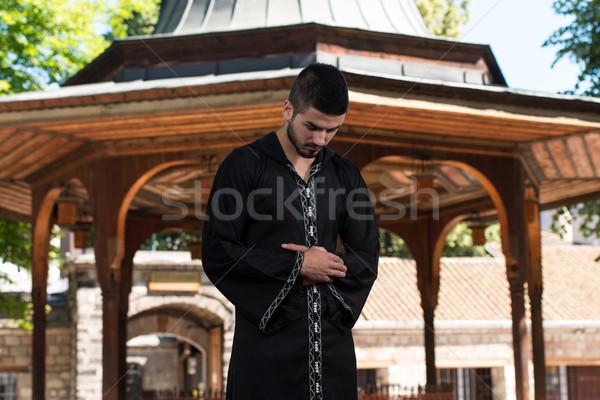Umile muslim preghiera giovani uomo Foto d'archivio © Jasminko