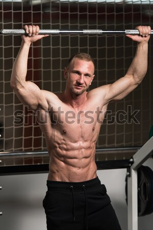 Cable Crossover Chest Workout Stock photo © Jasminko