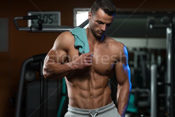 Bodybuilding oefening voeding best portret geschikt Stockfoto © Jasminko