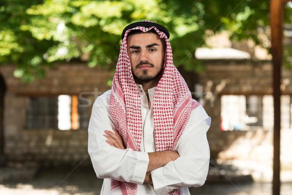 Moderna árabe empresario jóvenes tradicional Foto stock © Jasminko