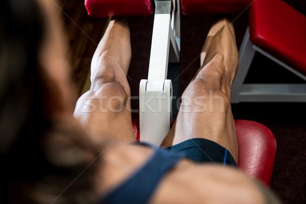 Stockfoto: Sport · mannen · macht · mannelijke · mooie · been