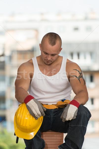 Lazy Man On Construction Stock photo © Jasminko