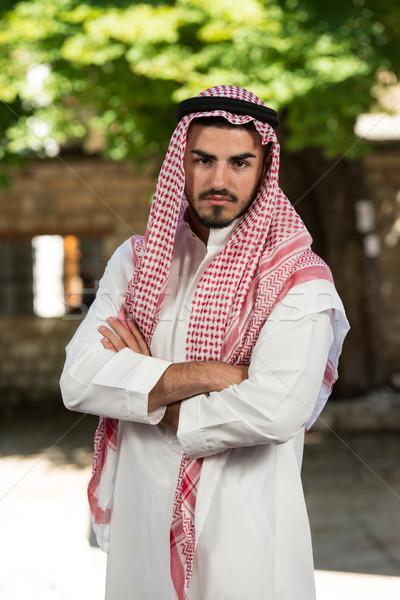 小さな アラブ 男 ビジネスマン 着用 伝統的な ストックフォト © Jasminko