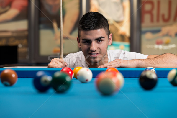 Portrait Of A Young Man Concentration On Ball Stock photo © Jasminko