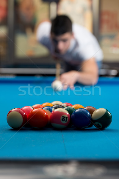 The Billiard Player Stock photo © Jasminko