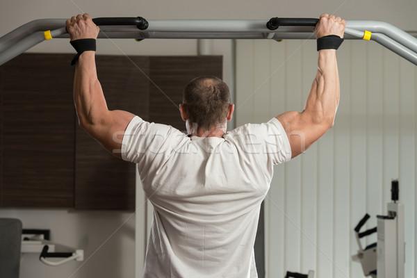 Mannelijke atleet man sport gymnasium Stockfoto © Jasminko