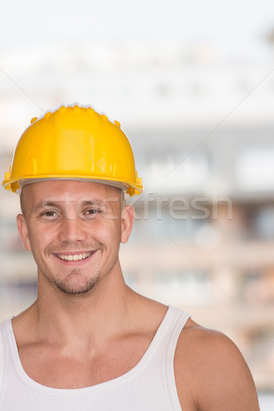 Portrait Of The Smiling Professional Handyman Stock photo © Jasminko