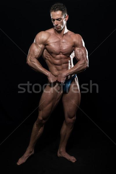 筋肉の 男性 筋肉 黒 小さな ボディービルダー ストックフォト © Jasminko